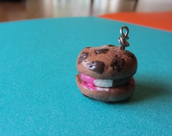 Neapolitan Ice Cream Cookie Sandwich Polymer Clay