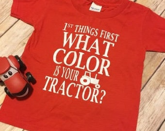 What Color is Your Tractor Shirt, Tractor Shirt, John Deere Shirt, Case IH Shirt, Farmer Shirt