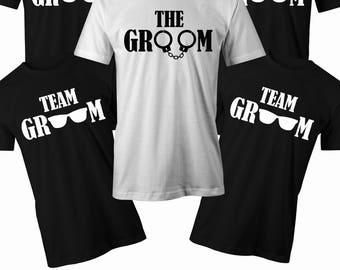 Team Groom T shirt Mens stag do t shirt Mens Bachelor party