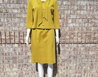 Vintage 1960'S Gloria Swanson Puritan Forever Young Two Piece Skirt Suit