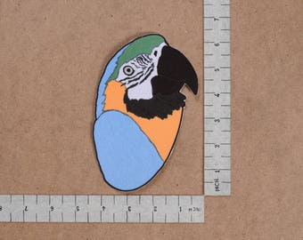 Parrot  Iron-On Printed Patch Bird Design Patchwork