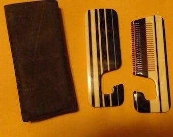 Vintage - Italy Janeke Mod Comb & Mirror Set with Case