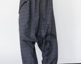 Drop Crotch Pants men women Aladdin Pants  Harem Pants  Hip Hop Pants, Boho Pants, Gypsy Pants, Baggy Pants