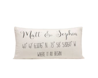 Love Story Pillow Cover, Where It All Began Custom Pillow Covers For Couples