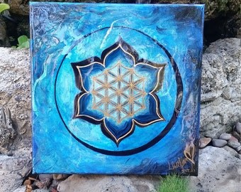 12x12 Flower Of Life Painting