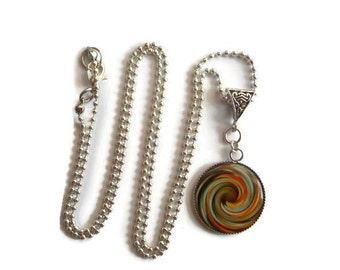 Long necklace, spiral pendant / gift / birthday / Christmas/holiday/thank you
