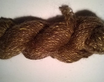 skein of shetland wool and mohair with a hint of glitz