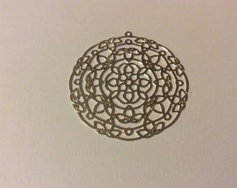 1 print lotus silver filled 40mm
