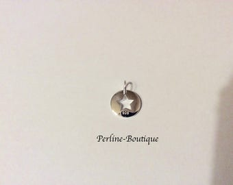 Round charm 925 sterling silver 11 * 14, 5mm