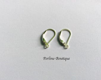 1 pair of stud earrings in Silver 925 17 * 10mm