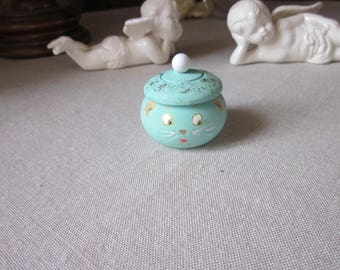 Box in turquoise blue mouse teeth, customizable tooth box, secret, tooth fairy box