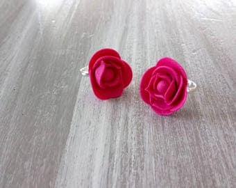 Pretty pink rings handmade of cold porcelain