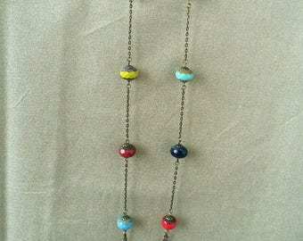 Earthy multicolored beads necklace