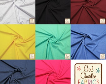 Solid Colour Ponte De Roma Knit Fabric (Various Colours)