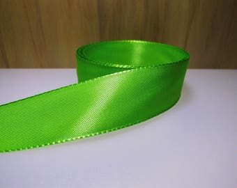 3 m Ribbon 25mm satin green-(rsve325a)