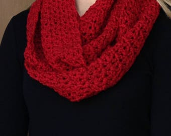 Bright Red Infinity Scarf