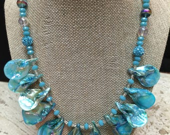 Handmade Turquoise Shell Necklace