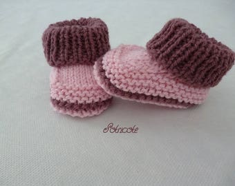 baby booties baby knitted wool 100% handmade.