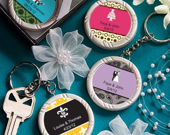 35 Personalized Key Ring Favors - Set of 35