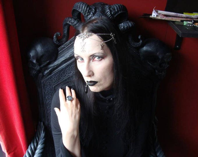 Lucifer Tiara - luciferian headpiece occult pentagram gothic