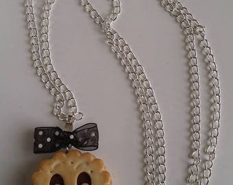 Cold porcelain choco biscuit pendant