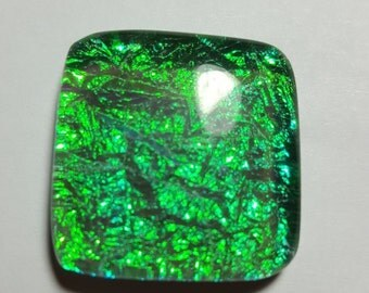 Drycoglass plain square shape cabochon - Approx- 26mm x 26mm x 8mm - STK-106-DRGL-04