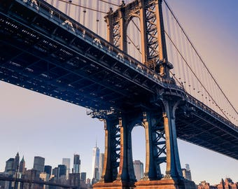 New York City Photography, NYC Print, Manhattan Bridge