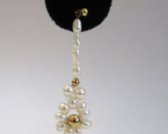 14K Yellow Gold Freshwater Pearl Earrings