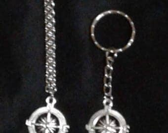 Compass Necklace and Keychain