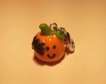Pumpkin and Spider Charm