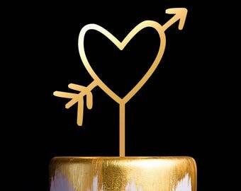 Love Cake Topper, Heart Sign Wedding Cake Topper, Keepsake Wedding Cake Toppers