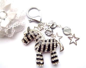 Bag charm horse cute rhinestone, pearls, shells, stars