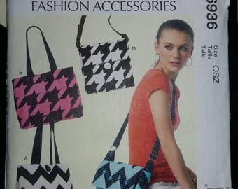 McCall sewing pattern ' S fashion accessories M6936