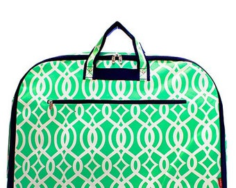 Mint Vine Garment Bag
