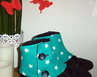 Gaiters turquoises and star white