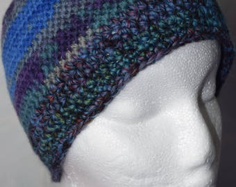Merino wool hat with gradient / ski cap / winter hat / beanie / crocheted cap / KU 52 - 56 cm