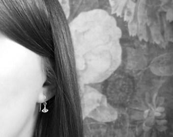 ECHO | Sterling Silver Dangle Earrings with Herkimer Diamonds