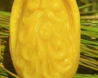 Old Man Winter ~100 % Pure Beeswax Candle ~ Gnome ~ Hobbit for the Hallway
