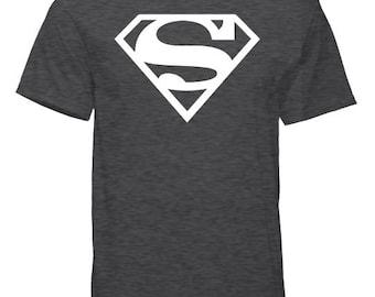 Superman Logo - Workout Shirt- 50/50 Blend - Tshirt