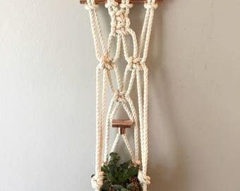 Macrame Plant Hanger with copper pipe