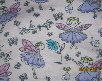 Forest fairies flannel blanket
