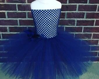 Navy Blue Tutu Dress