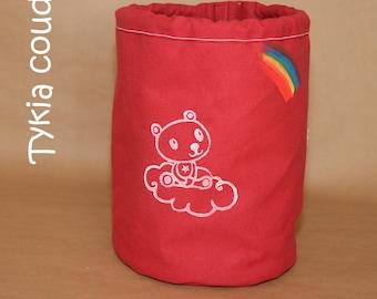 Duffel bag kids, big - rainbow