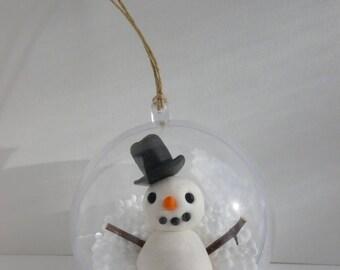 Snow man Christmas ball