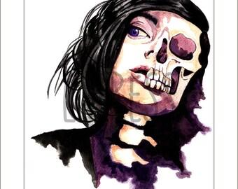 Death Becomes You Watercolour Art Print