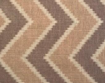 Brown Chevron Fabric