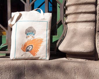 Tote Bag, Art Nouveau Tote Bag, Vogue Cover, Fashion, Vintage, Elegant, Boho Chic