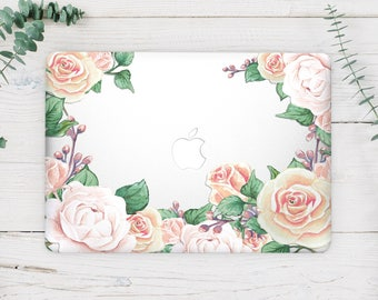 Floral Macbook Vinyl Decal Macbook Air 13 Skin Macbook Sticker Macbook 12 Decal Rose Macbook Pro Retina 15 Skin Macbook Pro 13 2017 Skin 014