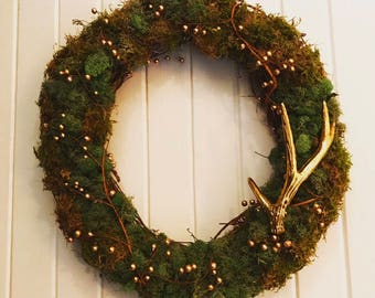 Holiday Moss Wreath