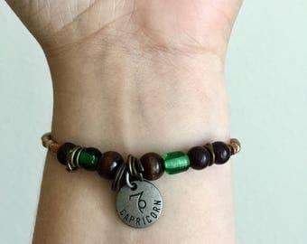 Capricorn Elastic Beaded Bracelet WOMENS Beaded Zodiac Bracelet